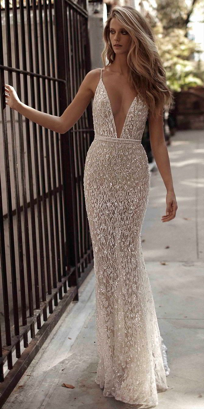 bride with sass wedding dresses reception wedding dresses Berta Fall Ornate Glamorous Wedding Dresses