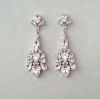 CAPRICE: Bridal Earrings - Chandelier Earrings, Wedding ...