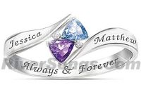 Loves promise birthstone promise ring for her. A solid ...