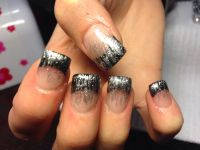 Black and silver nails | Prom ideas! | Pinterest | Silver ...