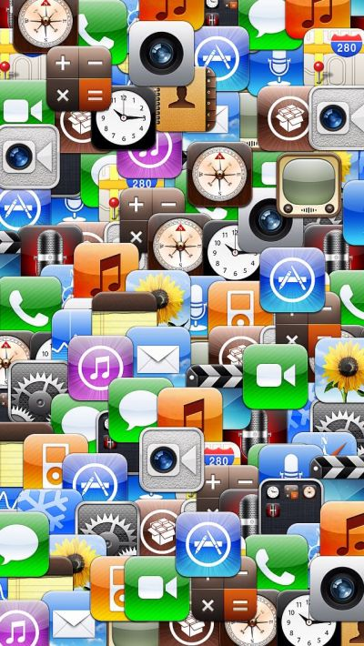 Collage of various iOS app icons. | iPhone 5 Backgrounds | Pinterest | Ios app, Icons and App icon