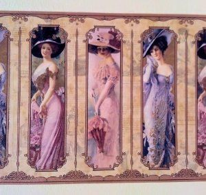 Amazon.com: Wallpaper Border Old Fashioned Victorian Ladies: Home ... | Millinery Couture