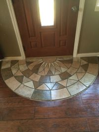 Tile doorway entry. Protecting the laminate from tracking