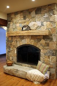 25+ best ideas about Stone veneer fireplace on Pinterest