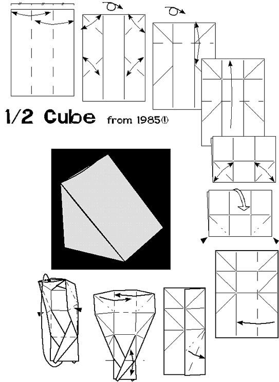 complex origami diagram of complex folds