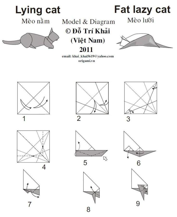 origami cat diagram hawaiidermatologycom origami origamicat