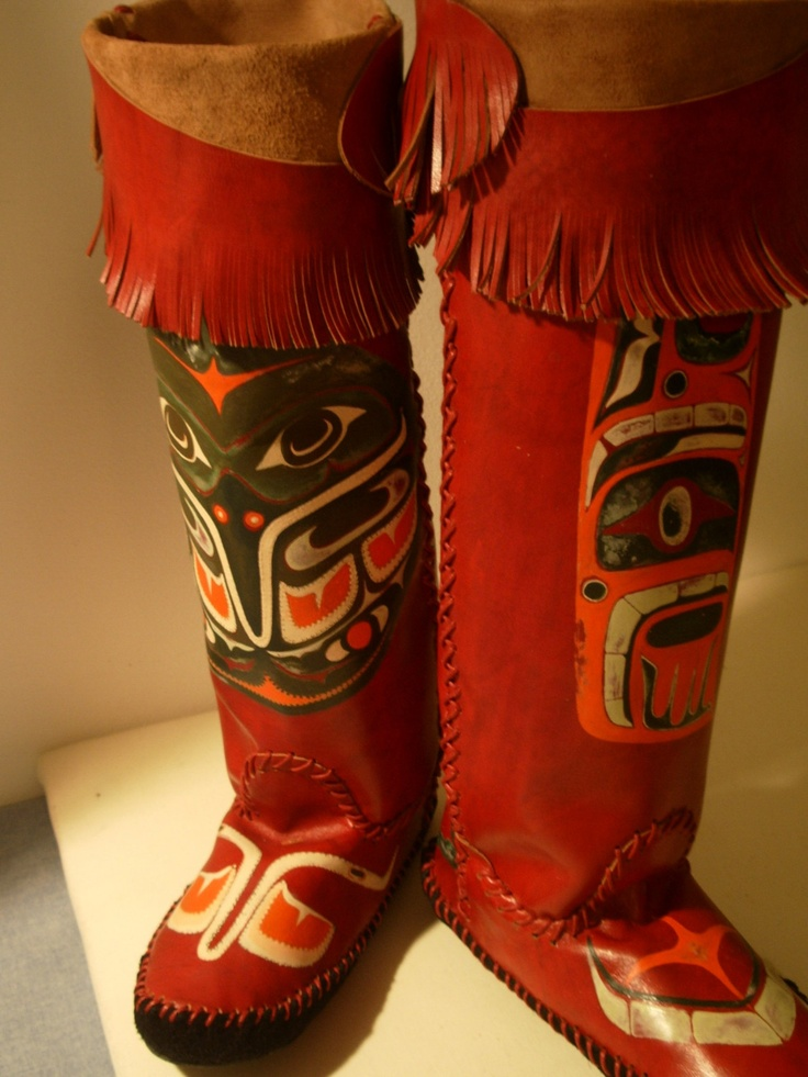 Boot Moccasins Haida Native American Images Killer Wale