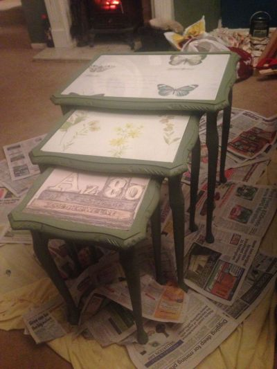17 Best images about Nest of tables on Pinterest | Shabby, Painted tables and Chic