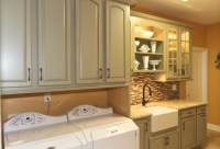 Laundry room cabinet - Homecrest cabinets Heartland Square ...