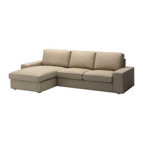 "Beige Corduroy Sofa $879 110"" Long, Very Nice Size--kivik Loveseat And Chaise"