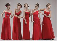 Wedding Bridesmaid Dresses Red | For bridesmaids: modest ...