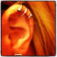 My double helix piercing | Ink and Metal | Pinterest | I ...