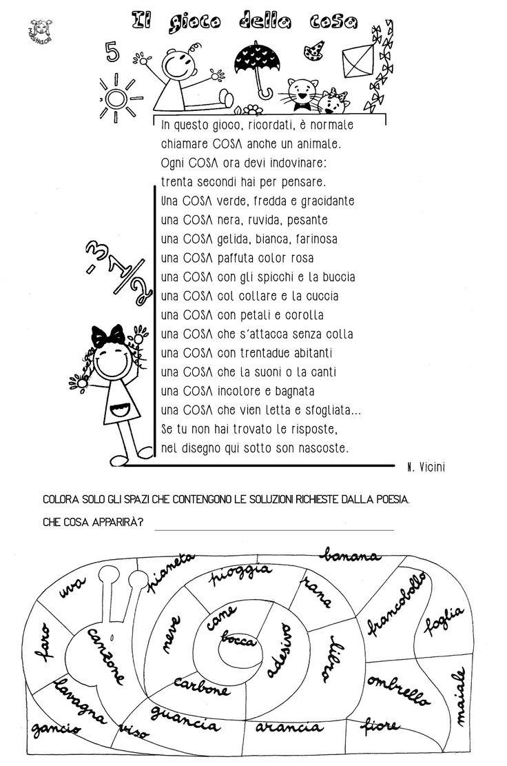 Italian Worksheets For Primary School