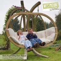 New luxury globo royal double hammock hang garden swing ...