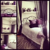 My bedroom. Purple black grey and white | house ...