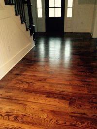 Dark walnut stain on red oak floors | Hollow tree ...
