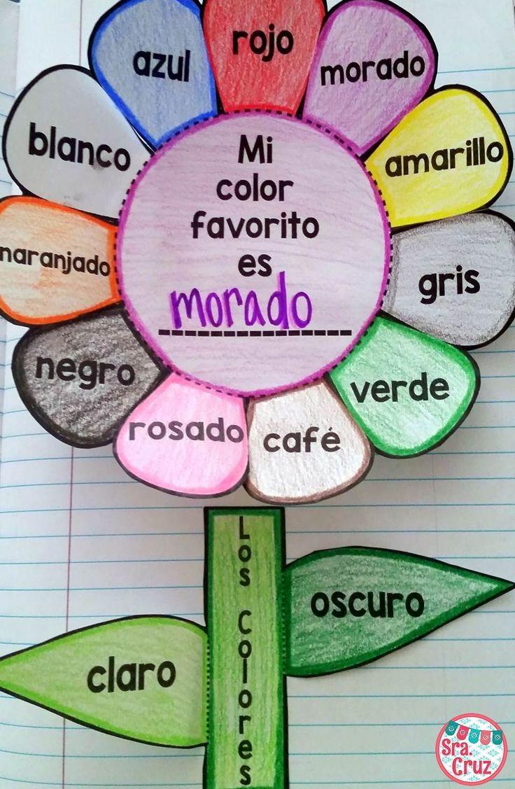 Spanish interactive notebook activity los colores