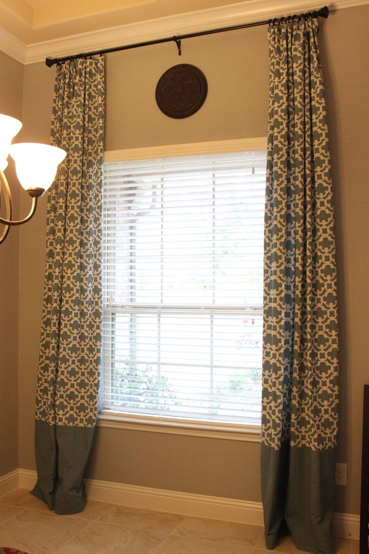 My customized target farrah fretwork curtain panels in blue i bought a pair