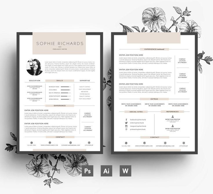 Editable Resume Template Cv Templates Give You Full Control Over - editable resume template