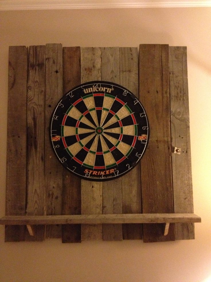 dart board cabinet with light