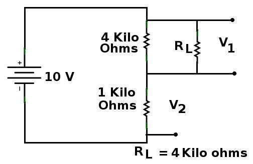 voltage divider on breadboard