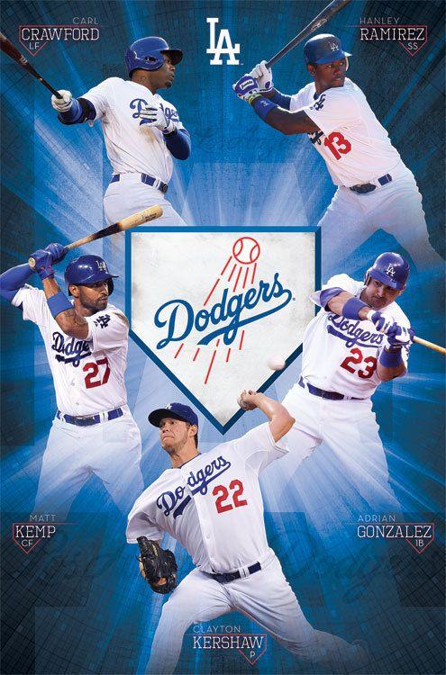 Oakland Raiders Girl Wallpaper Mlb La Los Angeles Dodgers Team Poster Dodgers