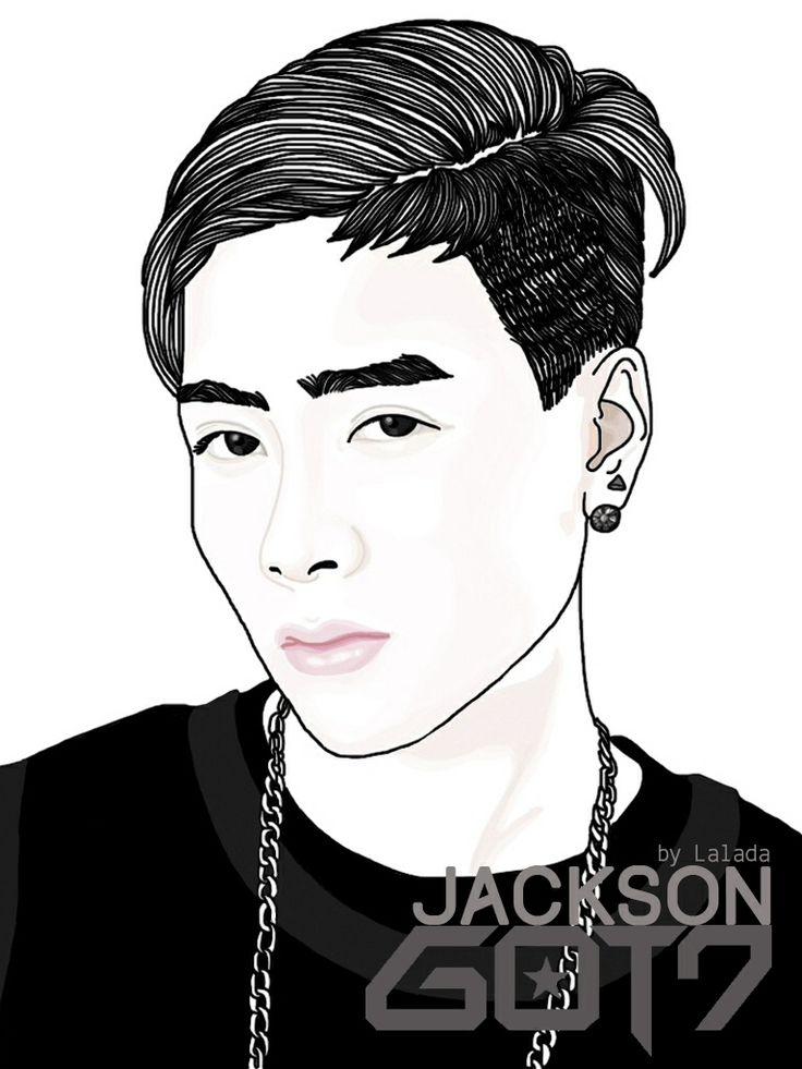 Cute Boy Cartoon Wallpaper Jackson Got7 Drawing Amp Photoshop Pinterest Got7