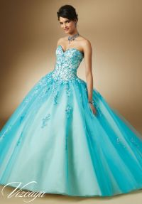 89047 Quinceanera Gowns Two-Tone Embroidery and Beading on ...
