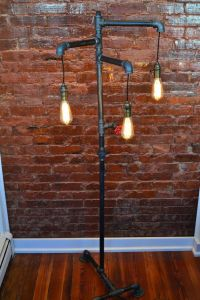 Industrial Steampunk Floor Lamp Bronze Light by ...