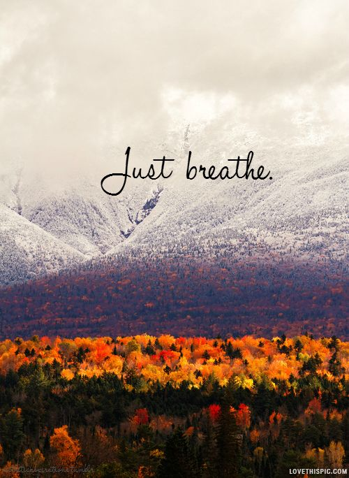 New England Fall Phone Wallpaper Just Breathe Quotes Quote Colorful Red Trees Life Mountain