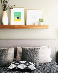 25+ Best Ideas about Shelf Above Bed on Pinterest | Grey ...