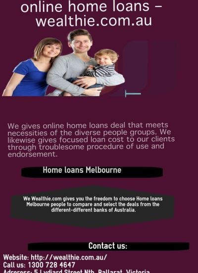 We gives online home loans deal that meets necessities of the diverse people groups. We likewise ...