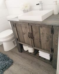I'm liking the rustic vanity here... hmmm... too much ...