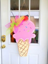 Summer Ice Cream Cone - $25 Door Decor & Gifts by Southern ...
