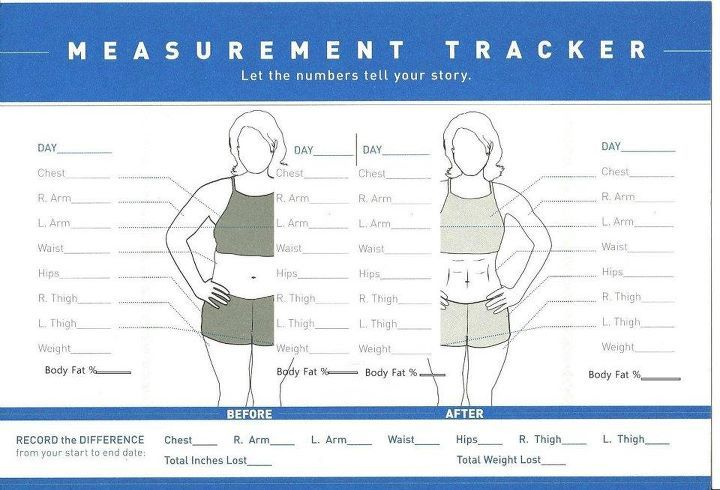 weight loss measurement tracker