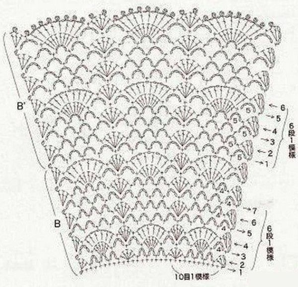 crochet diagram arts and crafts pinterest