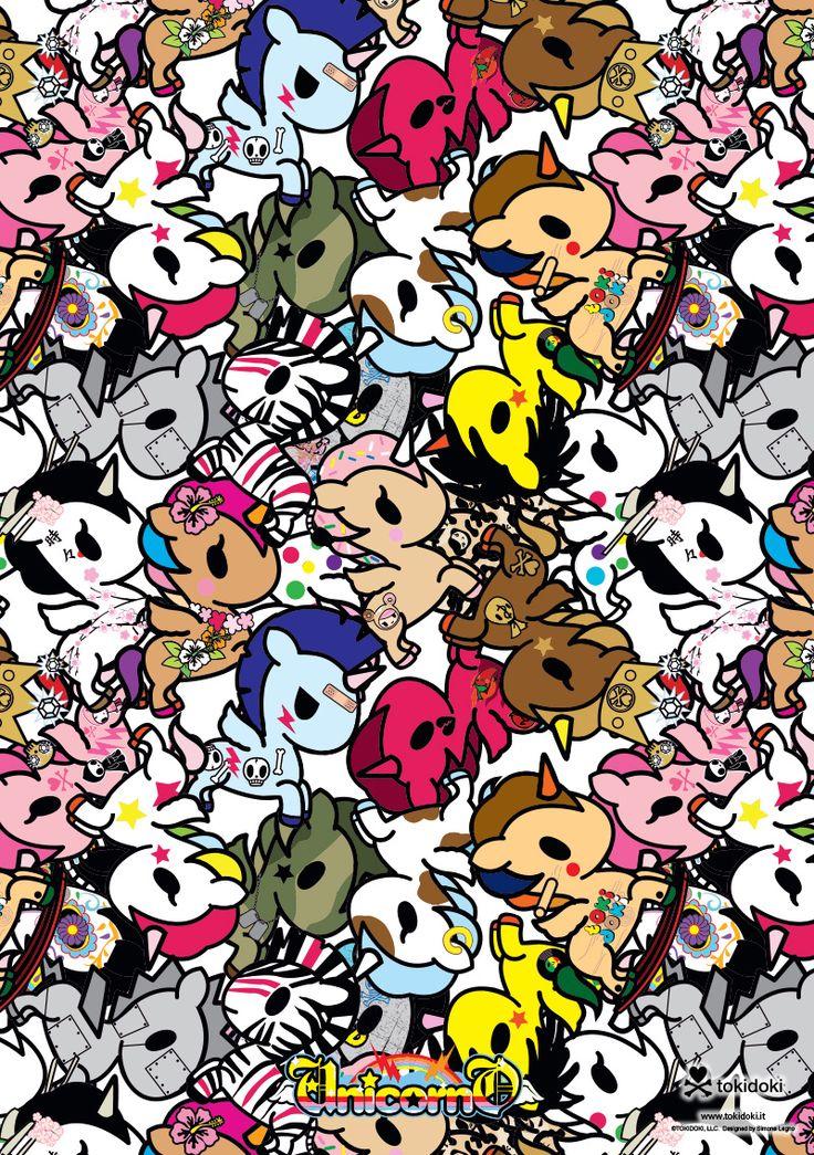 Very Cute Hello Kitty Wallpaper Tokidoki Unicorno Unicorns Pinterest