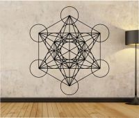 Metatrons Cube Wall Decal Sticker Art Decor Bedroom Design ...