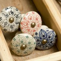 Hand Painted Ceramic Door Knob, Knobs, Drawer Pulls ...