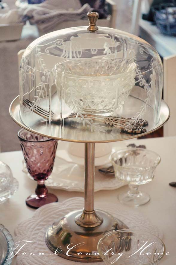 tall glass pedestal cupcake cake stand with glass cloche