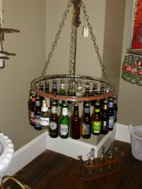 Beer bottle light fixture | Future Home | Pinterest | Beer ...