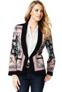 Tailored jacket, Marks & spencer and Shawl on Pinterest