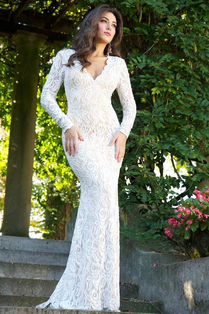 jovani gowns we love jovani wedding dress Long Sleeve Jovani Lace Gown