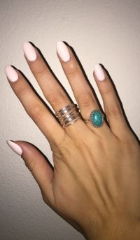 Light pink, round acrylic nails | beauty | Pinterest ...