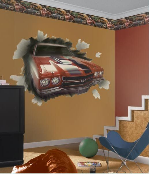 Race Car Bedroom Wallpaper Murals Decor Wall Decor And Wall Murals On Pinterest