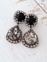 25+ best ideas about Black Earrings on Pinterest | Faux ...
