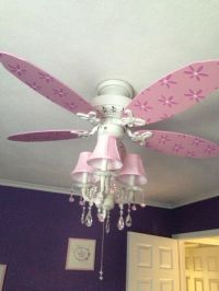 Chandelier ceiling fan combination | Girly Room Ideas ...