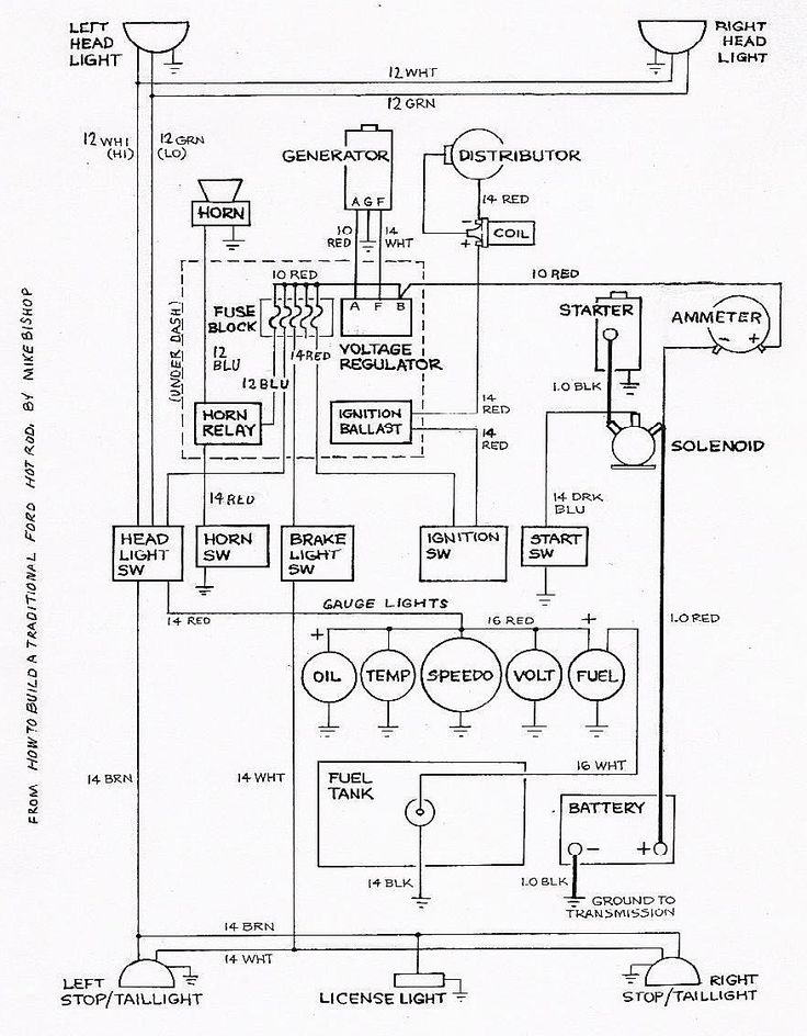 basic wiring diagram for starter motor