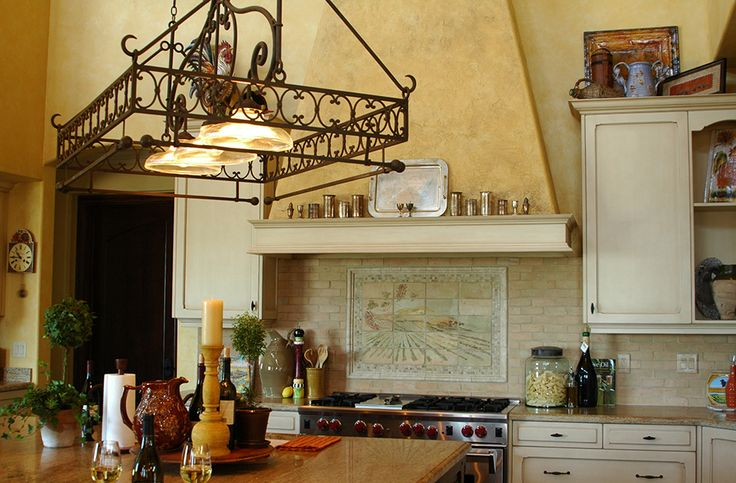 Kitchen Ideas With Light Wood Cabinets Luxurious Tuscan Kitchen With Decorative Hanging Pot Rack