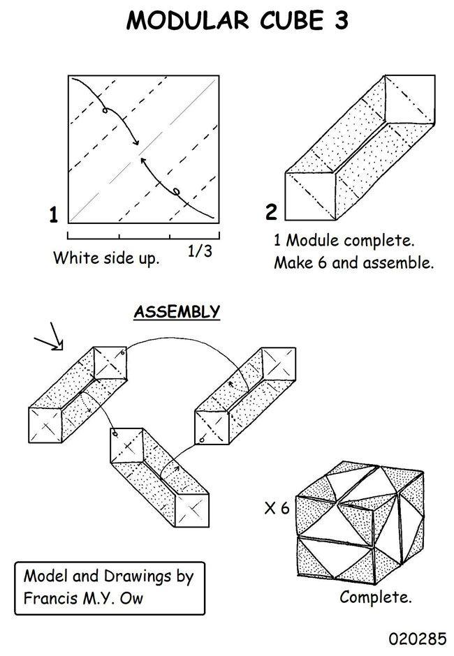 origami magic ball diagram in the diagrams below